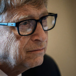 """US Microsoft founder, Co-Chairman of the Bill & Melinda Gates Foundation, Bill Gates, takes part in a conference call on October 9, 2019, in Lyon, central eastern France, during the funding conference of Global Fund to Fight AIDS, Tuberculosis and Malaria. - The Global Fund to Fight AIDS, Tuberculosis and Malaria on October 9, 2019, opened a drive to raise $14 billion to fight a global epidemics but face an uphill battle in the face of donor fatigue. The fund has asked for $14 billion, an amount it says would help save 16 million lives, avert """"234 million infections"""" and place the world back on track to meet the UN objective of ending the epidemics of HIV/AIDS, tuberculosis and malaria within 10 years. (Photo by JEFF PACHOUD / AFP) (Photo by JEFF PACHOUD/AFP via Getty Images)"""